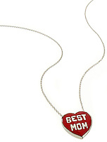 best mom red heart necklace