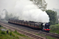 THE FLYING SCOTSMAN, Steaming through Northamptonshire heading North, this Morning Saturday 4th June 2016<br /> Photo:Mike Capps