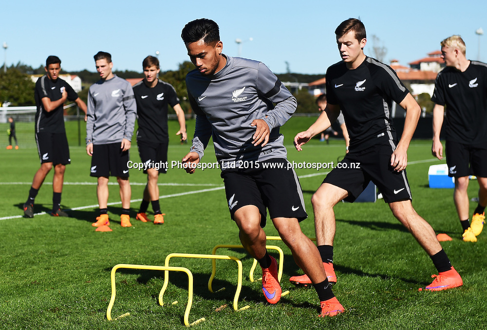 New Zealand U20 Junior All Whites Captain Bill Tuiloma during the Captain's Press Conference and training session ahead of the FIFA U-20 World Cup opening match tomorrow against Ukraine. North Harbour Stadium, Auckland. Friday 29 May 2015. Copyright Photo: Andrew Cornaga / www.photosport.co.nz