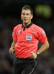 MANCHESTER, ENGLAND - Sunday, February 13, 2010: Referee Mark Clattenburg during the FA Cup 5th Round match at the City of Manchester Stadium. (Photo by David Rawcliffe/Propaganda)  MANCHESTER, ENGLAND - Sunday, February 13, 2010: Manchester City xxxx and Stoke City's xxxx during the FA Cup 5th Round match at the City of Manchester Stadium. (Photo by David Rawcliffe/Propaganda)