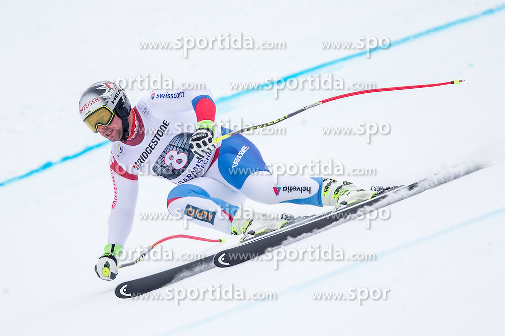 27.02.2015, Kandahar, Garmisch Partenkirchen, GER, FIS Weltcup Ski Alpin, Abfahrt, Herren, 2. Training, im Bild Beat Feuz (SUI) // Beat Feuz of Switzerland in action during the 2nd trainings run for the men's Downhill of the FIS Ski Alpine World Cup at the Kandahar course, Garmisch Partenkirchen, Germany on 2015/27/02. EXPA Pictures © 2015, PhotoCredit: EXPA/ Johann Groder