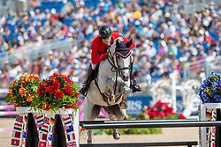 KÜHNER Max (AUT), Chardonnay<br /> Tryon - FEI World Equestrian Games™ 2018<br /> FEI World Individual Jumping Championship<br /> Third cometition - Round B<br /> 3. Qualifikation Einzelentscheidung 1. Runde<br /> 23. September 2018<br /> © www.sportfotos-lafrentz.de/Stefan Lafrentz