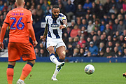 West Bromwich Albion defender Kyle Bartley (5) shoots at goal during the EFL Sky Bet Championship match between West Bromwich Albion and Millwall at The Hawthorns, West Bromwich, England on 22 September 2018.