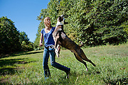 Christy Wrede and Logan dog portrait session