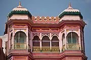 Hindu Temple at Vijaya Nagaram Ghat during annual Festival of Shivaratri in holy city of Varanasi, India
