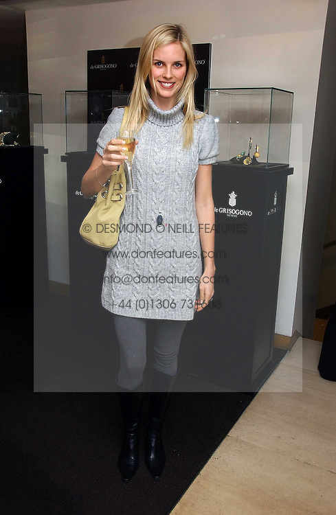 FRIDA LOURIE at a lunch hosted by Fawaz Gruosi to celebrate the launch of De Grisogono's latest watch 'Be Eight' held at Nobu, 19 Old Park Lane, London W1 on 30th November 2006.<br /><br />NON EXCLUSIVE - WORLD RIGHTS