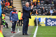 Hull City manager Nigel Adkins with Bristol City manager Lee Johnson behined at the end of the EFL Sky Bet Championship match between Hull City and Bristol City at the KCOM Stadium, Kingston upon Hull, England on 5 May 2019.