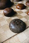 Carved wooden bowl, Omoa village, Fatu Hiva, Marquesas, French Polynesia