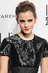 © Licensed to London News Pictures. 18/02/2014. London, UK. Emma Watson, winner of the Actress of the Year award attends the ELLE Style Awards 2014 at One Embankment in central London. Photo credit : Andrea Baldo/LNP
