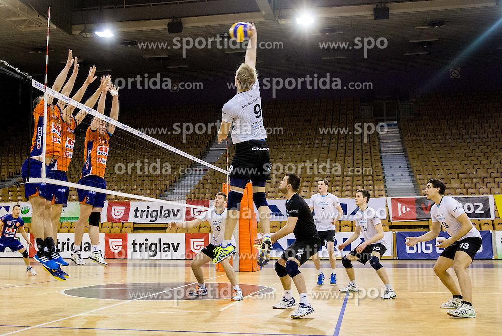 Andrej Stembergar of Calcit during volleyball match between ACH Volley and OK Calcit Volleyball in 10th Round of Slovenian National Championship 2014/15, on March 11, 2015 in Arena Tivoli, Ljubljana, Slovenia. Photo by Vid Ponikvar / Sportida