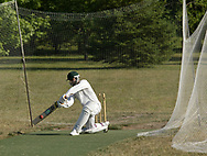 Jay Singh, from Cincinnati, during a practice of the Greater Dayton Cricket Club at Stubbs Park in Centerville, Thursday, June, 21st.