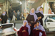 street scene with arabic women near the market in Sanliurfa