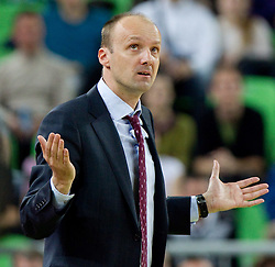 Jure Zdovc, head coach of Union Olimpija during final match of Basketball NLB League at Final four tournament between KK Union Olimpija (SLO) and Partizan Belgrade (SRB), on April 21, 2011 in Arena Stozice, Ljubljana, Slovenia. Partizan defeated Union Olimpija 77-74 and became NLB league Champion 2011.  (Photo By Vid Ponikvar / Sportida.com)