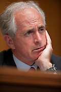 """May 25, 2010 - Washington, District of Columbia, U.S., - Senator Bob Corker listens as Former Secretary of State Henry Kissinger testifies before the Senate Foreign Relations Committee on """"The Role of Strategic Arms Control in a Post-Cold War World,"""" focusing the U.S.-Russia Strategic Arms Reduction Treaty..(Credit Image: © Pete Marovich/ZUMA Press)"""