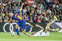 August 7, 2017 - Barcelona, Catalonia, Spain - FC Barcelona midfielder A. INIESTA in action during the Joan Gamper Trophy between FC Barcelona and Chapecoense at the Camp Nou stadium in Barcelona (Credit Image: © Matthias Oesterle via ZUMA Wire)