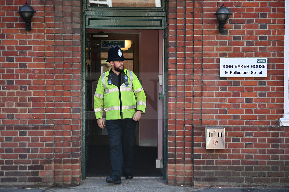 © Licensed to London News Pictures. 05/07/2018. Salisbury, UK. John Baker House in Salisbury, Wiltshire an area visited by two people who are in critical condition after being exposed to the Novichok nerve agent. Dawn Sturgess, 44, and Charlie Rowley, 45 hav been confirmed as having come in to contact with the deadly agent after samples were sent to the MoD's Porton Down laboratory. Former Russian spy Sergei Skripal and his daughter Yulia were poisoned with Novichok nerve agent in nearby Salisbury in March 2018 causing diplomatic tentions between Russia and the UK. Photo credit: Ben Cawthra/LNP