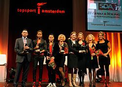 13-12-2010 ALGEMEEN: TOPSPORT GALA AMSTERDAM: AMSTERDAM<br /> In de Westergasfabriek werd het gala van de beste sportman, -vrouw, coach en ploeg gekozen / Alle winnaars met oa. Sportploeg Dames Vier zonder, Carline Bouw, Chantal Achterberg, Femke Dekker en Nienke Kingma, Jeffrey Wammes, Jamile Samuel en Susannah Cjayes<br /> ©2010-WWW.FOTOHOOGENDOORN.NL