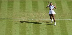 LONDON, ENGLAND - Tuesday, July 2, 2019: Serena Williams (USA) during the Ladies' Singles first round match on Day Two of The Championships Wimbledon 2019 at the All England Lawn Tennis and Croquet Club. (Pic by Kirsten Holst/Propaganda)