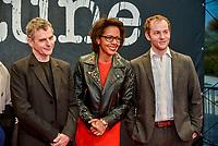 Ouverture du 10e festival du film policier a Beaune<br /> Lucas Belvaux, Audrey Pulvar, Malik Zidi