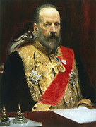 Sergey Yulyevich Witte (1849-1915). First constitutional prime minister of tsarist Russia (1905-1906). Peace plenipotentiary after Russo-Japanese War (1905). Russian modernisation. Witte 1901-1903 by Ilia Repine (1844-1930).