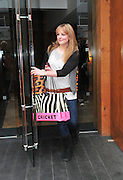 22.JANUARY.2011. LIVERPOOL<br /> <br /> HELPERS HELP CARRY AMANDA HOLDEN'S SHOPPING BAGS AT THE HOPE STREET HOTEL WHERE AMANDA HAD STAYED AND EARLIER ATTENDED THE BRITAINS GOT TALENT AUDITIONS HELD IN LIVERPOOL.<br /> <br /> BYLINE: EDBIMAGEARCHIVE.COM<br /> <br /> *THIS IMAGE IS STRICTLY FOR UK NEWSPAPERS AND MAGAZINES ONLY*<br /> *FOR WORLD WIDE SALES AND WEB USE PLEASE CONTACT EDBIMAGEARCHIVE - 0208 954 5968*