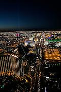 Night helicopter flight, Las Vegas, Nevada