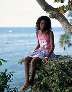 Seaview and Girl -  Goldeneye - Jamaica