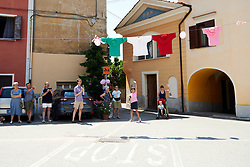 Fans wait for the riders arrive on Stage 3 of 2019 Giro Rosa Iccrea, a 104.7 km road race from Sagliano Micca to Piedicavallo, Italy on July 7, 2019. Photo by Sean Robinson/velofocus.com