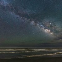 Single shot of Milky Way above Cape Hatteras Beach, NC