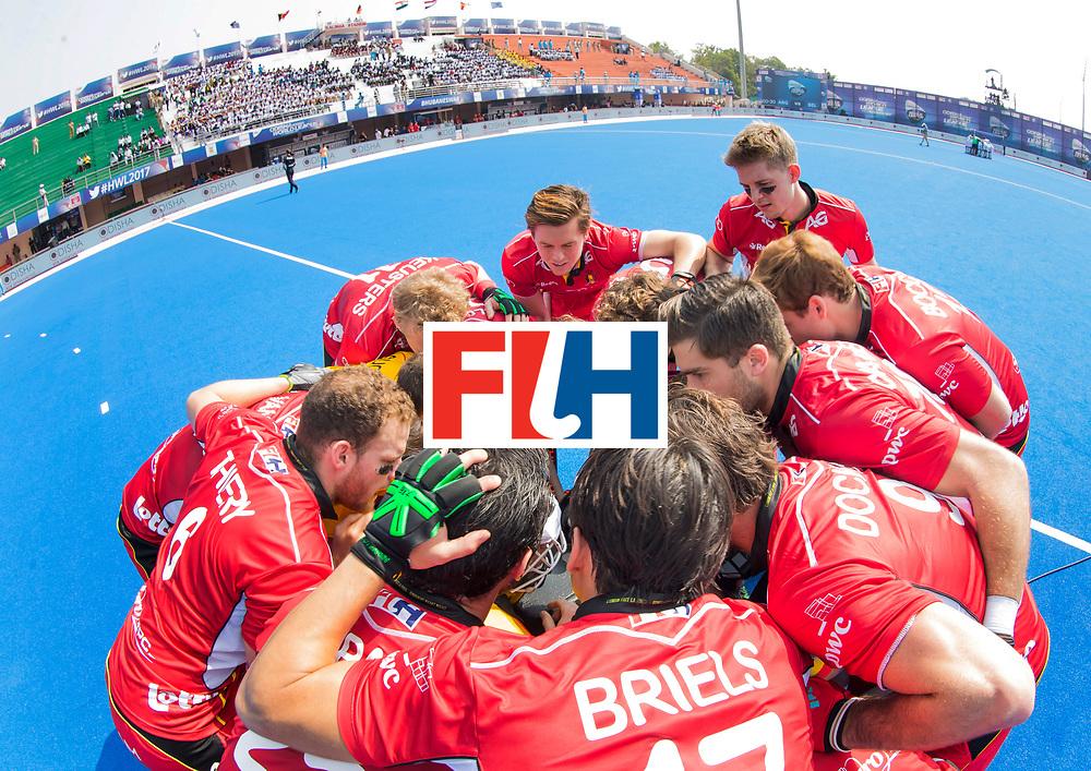 BHUBANESWAR - The Odisha Men's Hockey World League Final . Match ID 03. Argentina v Belgium . Teamhuddle Belgium. WORLDSPORTPICS COPYRIGHT  KOEN SUYK