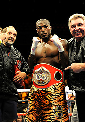 28 August 2009: Tavoris Cloud poses and wears the championship belt after he defeated Clinton Woods for the IBF Light Heavyweight Title at the Seminole Hard Rock Hotel and Casino in Hollywood, Florida.