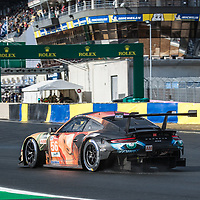 #56, Team Project 1, Porsche 911 RSR, LMGTE Am, driven by: Jorg Bergmeister, Patrick Lindsey, Egidio Perfetti on 12/06/2019 at the Le Mans 24H 2019