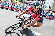 04-07-2015: Wielrennen: Grande Depart: Tour de France: Utrecht<br /> <br /> Greg VAN AVERMAET<br /> <br /> De 1e etappe van de Tour de France van 2015 was een individuele tijdrit van 13,8 kilometer. De start en finish zijn bij de Jaarbeurs in Utrecht