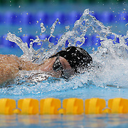 Allison Schmitt, USA, in action in the Women's 4 x 200m Freestyle Relay Final won by the USA at the Aquatic Centre at Olympic Park, Stratford during the London 2012 Olympic games. London, UK. 1st August 2012. Photo Tim Clayton