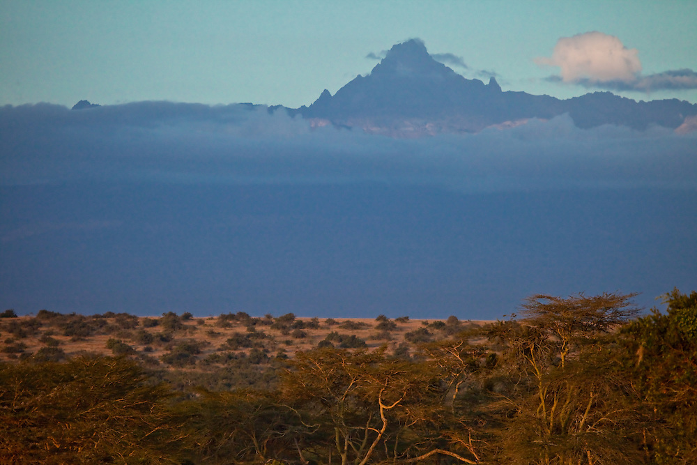 View of Mt Kenya from Solio