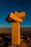 Rock sculptures at a sculpture park in Mitzpe Ramon, Negev Desert, Israel.