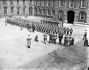 Inauguration of President Sean T O'Ceallaigh at St. Patrick's Hall, Dublin Castle and Procession, Westmoreland St.25/06/1952