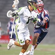 JoJo Marasco #1 of the New York Lizards runs with the ball during the game at Harvard Stadium on July 19, 2014 in Boston, Massachusetts. (Photo by Elan Kawesch)