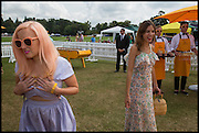 AIMEE PHILLIP; ALEXA CHUNG, 2004 Veuve Clicquot Gold Cup Final at Cowdray Park Polo Club, Midhurst. 20 July 2014