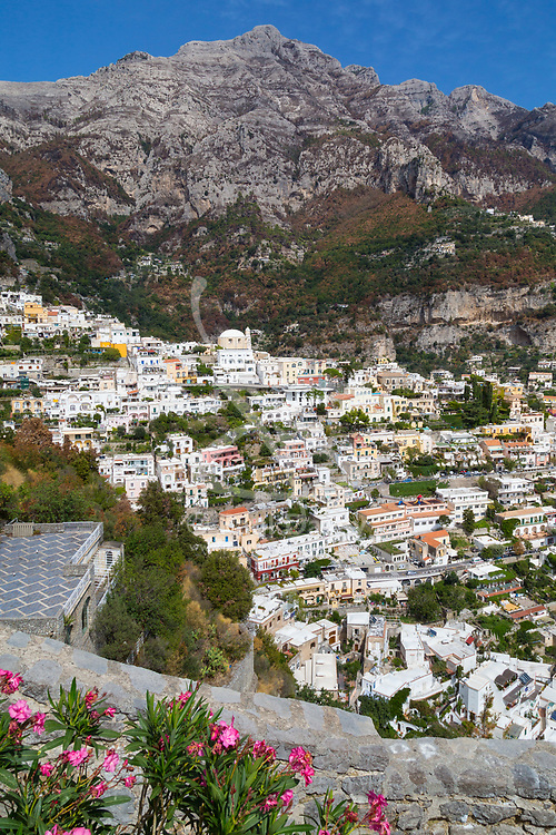 Positano, Italy, September 16 2017. The spectacular town of Positano clings to the mountains in southern Italy. © Paul Davey