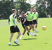 |LT| and Thomas Konrad during Dundee pre-season training at GLOBALL Football Park, Budapest, Hungary<br /> <br />  - &copy; David Young - www.davidyoungphoto.co.uk - email: davidyoungphoto@gmail.com