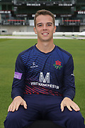 Lancashires George Lavelle during the Lancashire County Cricket Club at the Emirates, Old Trafford, Manchester, United Kingdom on 3 April 2019.