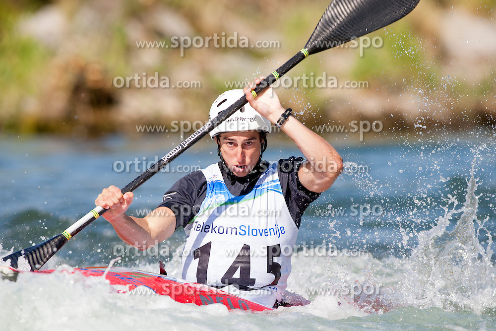 Fabio Rodriguez of Brazil during Kayak(K1) Man semi-final race at ICF Canoe Slalom World Cup Sloka 2013, on August 17, 2013, in Tacen, Ljubljana, Slovenia. (Photo by Urban Urbanc / Sportida.com)