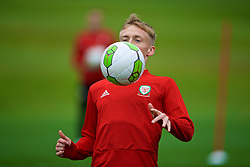 CARDIFF, WALES - Saturday, October 13, 2018: Wales' Matthew Smith during a training session at the Vale Resort ahead of the UEFA Nations League Group Stage League B Group 4 match between Republic of Ireland and Wales. (Pic by David Rawcliffe/Propaganda)