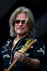 05 May 2013. New Orleans, Louisiana,  USA. .New Orleans Jazz and Heritage Festival. JazzFest..Daryl Hall of music duo legends Daryl Hall and John Oates playing the Gentilly Stage..Photo; Charlie Varley.