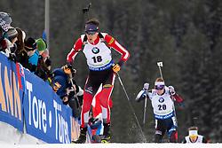 Tobias Eberhard (AUT) in action during the Pursuit Men 12,5 km at day 8 of IBU Biathlon World Cup 2018/19 Pokljuka, on December 9, 2018 in Rudno polje, Pokljuka, Pokljuka, Slovenia. Photo by Urban Urbanc / Sportida