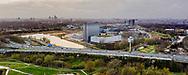 Nederland, Amsterdam, 20190326<br /> Ringweg A10  aan de oostkant van Amsterdam. In het midden een groot datacenter op het sciencepark.<br /> Foto (c) Michiel Wijnbergh