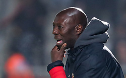 November 11, 2017 - Tubize, BELGIUM - Tubize's head coach Sadio Demba pictured during a soccer game between AFC Tubize and Lierse SK, in Tubize, Saturday 11 November 2017, on day 15 of the division 1B Proximus League competition of the Belgian soccer championship. BELGA PHOTO VIRGINIE LEFOUR (Credit Image: © Virginie Lefour/Belga via ZUMA Press)