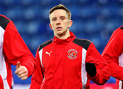 Ashley Hunter of Fleetwood Town - Mandatory by-line: Robbie Stephenson/JMP - 16/01/2018 - FOOTBALL - King Power Stadium - Leicester, England - Leicester City v Fleetwood Town - Emirates FA Cup third round proper