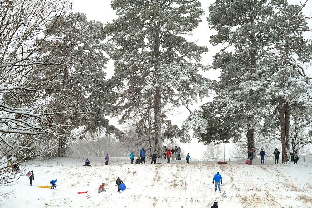 January 2017 snow. Veterans Park.